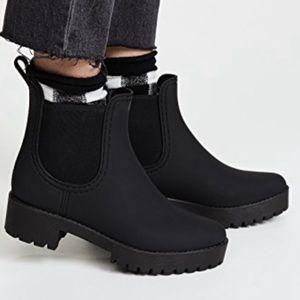 6e56d2cca JEFFREY CAMPBELL Cloudy Chelsea Rain Boot size 8